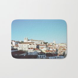 Lisbon Sky - View of Alfama Bath Mat