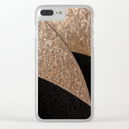Rusted Disker Plow Light and Shadow Abstract Clear iPhone Case