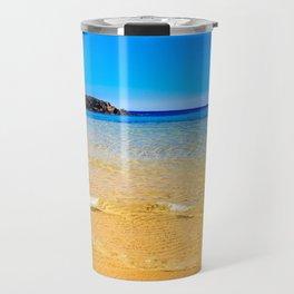 The beach of Chia su Giudeu, Sardinia Travel Mug