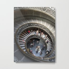Vatican Museum Spiral Metal Print