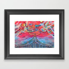 Thought Eruptions Framed Art Print