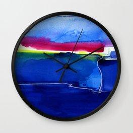 Meditations 33 by Kathy Morton Stanion Wall Clock