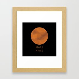 Aries - Ruling Planet Mars Framed Art Print