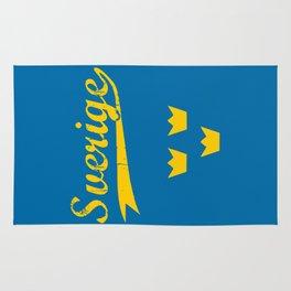 Sweden, Sverige, vintage poster Rug
