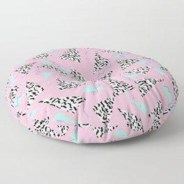 Geometric Minimal pastel modern pattern design triangle memphis basic nursery decor Floor Pillow