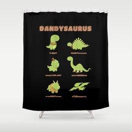 DANDYSAURUS - Dark Version Shower Curtain