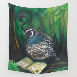 Curious Quail Wall Tapestry
