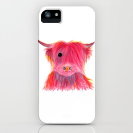 Scottish Highland Cow ' MAGGIE ' by Shirley MacArthur iPhone Case