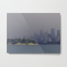 Rainy City/Sunny Skies Metal Print