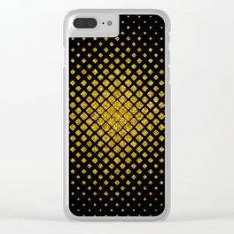 Art Deco Glitter-Gold Diamonds Glamorous Pattern Clear iPhone Case