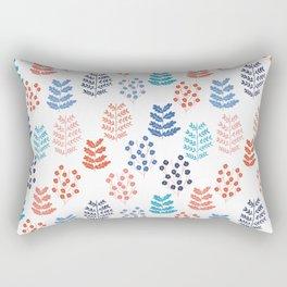Winter Forest White Rectangular Pillow