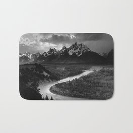 The Tetons and the Snake River  Bath Mat