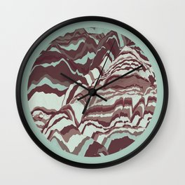 TOPOGRAPHY 002 Wall Clock