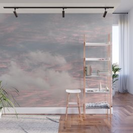 Cloud layers of Pink Wall Mural