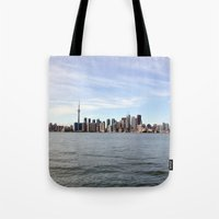 toronto Tote Bags featuring Toronto by Angela Fang