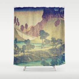 A Valley in the Evening Shower Curtain