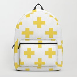Canary Yellow Plus Sign Pattern Backpack
