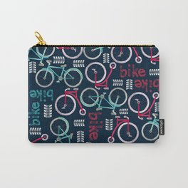 Watercolor Pink and Blue Bike Carry-All Pouch