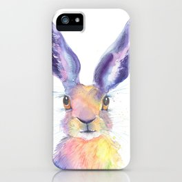 Rainbow Hare iPhone Case