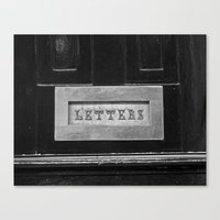 letters Canvas Prints featuring Letters by Shy Photog