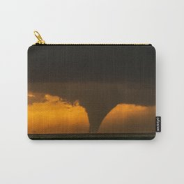Silhouette - Large Tornado at Sunset in Kansas Carry-All Pouch