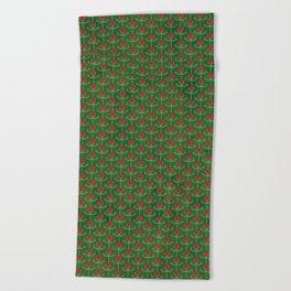 Spring Roses Pattern Beach Towel