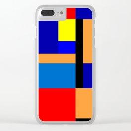 Mondrian #35 Clear iPhone Case