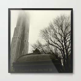 Downtown in the Fog, 2012 Metal Print