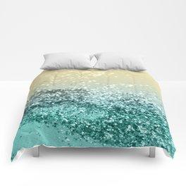 Lemon Twist Beach Glitter #2 #shiny #decor #art #society6 Comforters