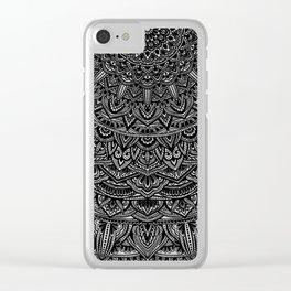 Zen Black and white Mandala Clear iPhone Case