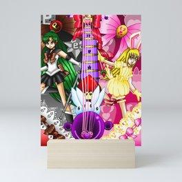 Sailor Mew Guitar #69 - Sailor Pluto & Mew Berry Mini Art Print