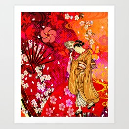 日没 (sunset) Art Print