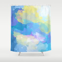 Colorful Abstract - blue, pattern, clouds, sky Shower Curtain