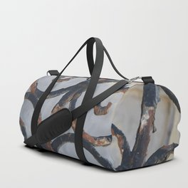 Rusty Metal Grid Gate pattern Illustration Duffle Bag