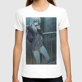Anime Girl Night Rain T-shirt