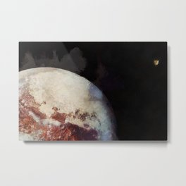 Pluto and New Horizons probe Metal Print