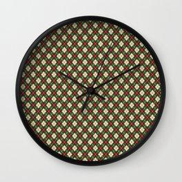 Vintage holiday socks Wall Clock