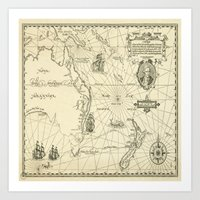 world maps Art Prints featuring Old Maps by tanduksapi