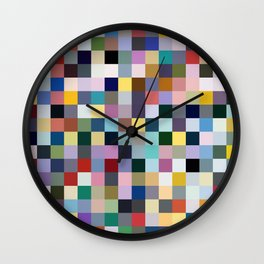Aumakua - Abstract Multicolor Pixel Art Wall Clock