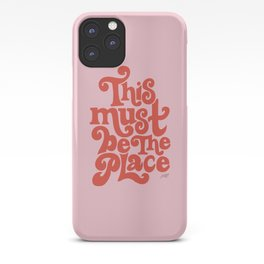 This Must Be The Place (Pink/Red Palette) iPhone Case