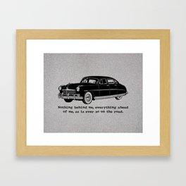 Jack Kerouac - On the Road - Hudson Car Framed Art Print
