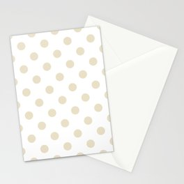 Polka Dots - Pearl Brown on White Stationery Cards