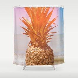 Golden Pineapple - Leaked Shower Curtain