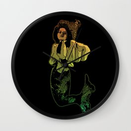 Punching Mermaid Wall Clock