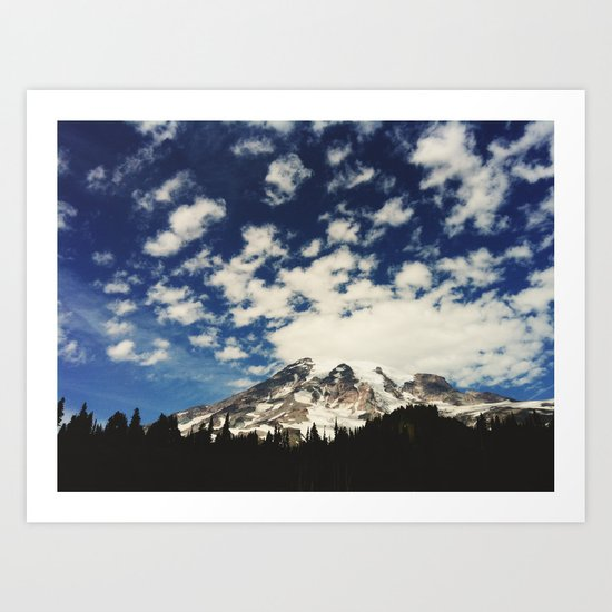 Mount Rainier: Captured on an iPhone Art Print