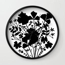 Flower Bouquet Silhouette Wall Clock