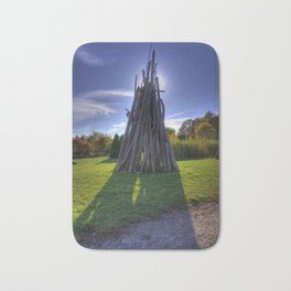 Tipi in the park Bath Mat