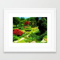 water colour Framed Art Prints featuring Colour by ieIndigoEast