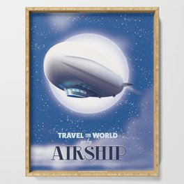 Travel the World - go by airship Serving Tray