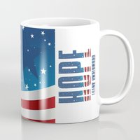house of cards Mugs featuring House of Cards: Frank Underwood USA President by Akyanyme